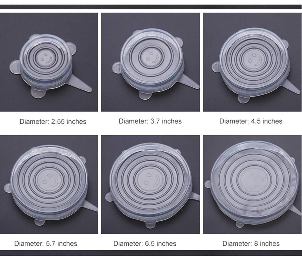 Coperchi elasticizzati in silicone riutilizzabili e riutilizzabili 18 coperchi in silicone per ciotole alimentari