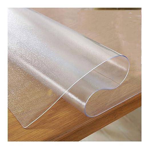 QXLI Transparente Manteles Escarchado Mantel 3mm Grueso Rectángulo ...