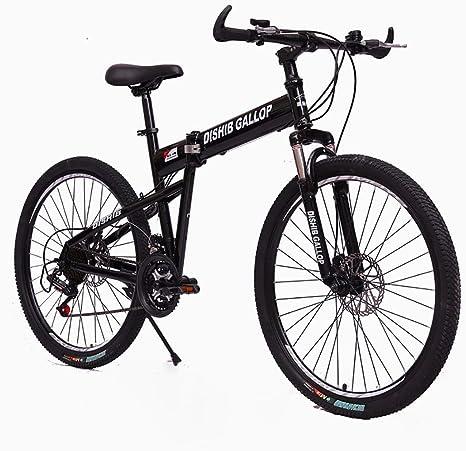 STRTG Bicicleta Plegable, Adultos Plegado Montaña Bike, Marco De Acero De Alto Carbono,Sillin Confort, 24 * 26 Pulgadas 21 * 24 * 27 * 30 velocidades Plegable Bicicleta Folding Bike: Amazon.es: Deportes y aire libre