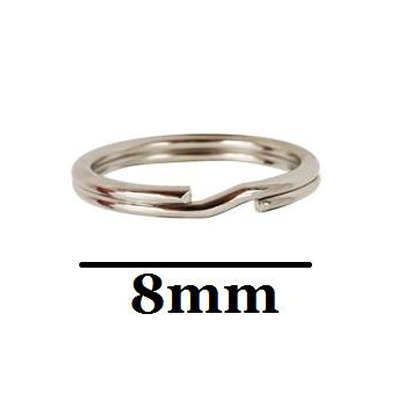 5 Pcs Split Rings in Nickel Free 925 Sterling Silver Strong Diameter 8mm