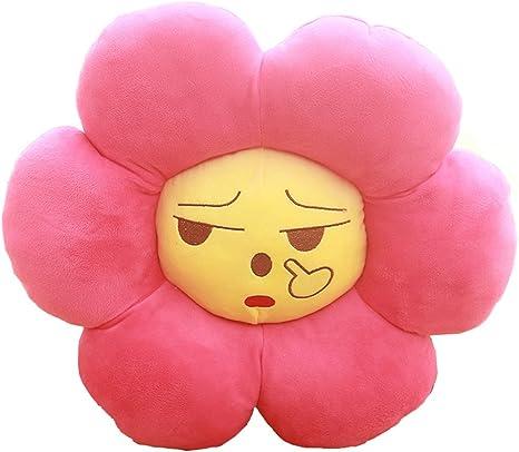 Emoji Pillow Cute Sunflower Smiley Face