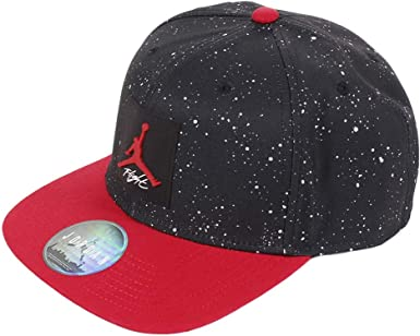 Nike Jordan Pro AOP Snapback, Gorro para Hombre, Black Gym Red ...