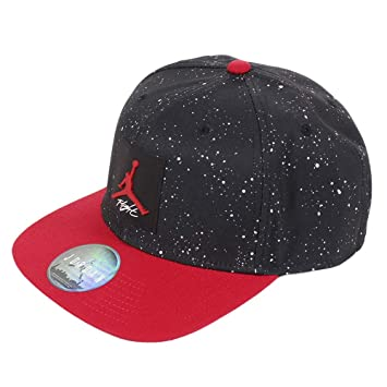 2e86e01dc09 Nike Jordan PRO AOP Snapback, Men's Hat, Black Gym Red, One Size ...