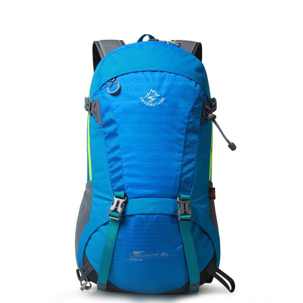 アウトドア登山バッグ/カップルバックパック/ハイキングパック B01NBJ2G4D ブルー