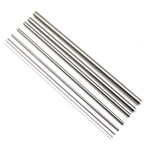 Eowpower 8 Pcs Outer Diameter 0.5 to 12 mm, Length 300mm, 304 Stainless Steel Capillary Metal Tube Tubing