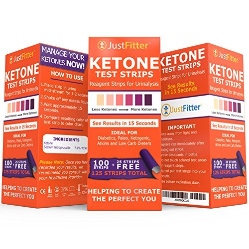 Ketone Keto Urine Test Strips. Lose Weight, Look & Feel Fabulous on a Low Carb Ketogenic or HCG Diet. Get Your Body Back! Accurately Measure Your Fat Burning Ketosis Levels by Just Fitter (Image #1)