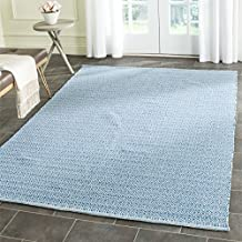 "Safavieh Montauk Collection MTK717C Handmade Flatweave Ivory and Blue Cotton Area Rug (2'3"" x 3'9"")"