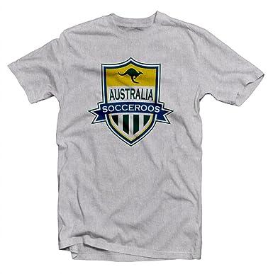 dbd5c63b5 Amazon.com  Australia Socceroos Soccer Badge Printed Tee  Clothing