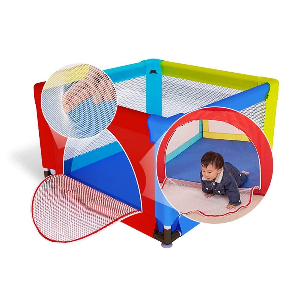 赤ちゃんの幼児のための赤ん坊の通気性の網のための3つのサイズのPlaypenの屋内家の多彩な活動の中心 - 洗濯できる演劇場、安全塀、汚れ防止、落下防止 (色 : 120×120cm)  120×120cm B07R48MVGK