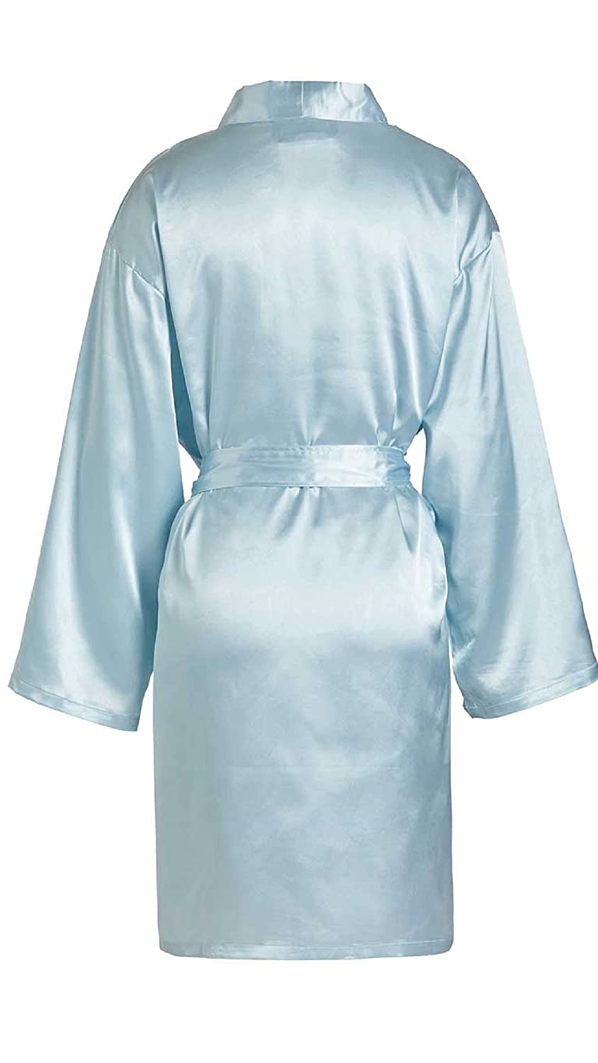 TowelBathrobe Womens Kimono Satin Robe Satin Lounge Bridesmaids Short Robe