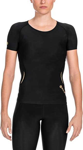 Skins-FEMME Bio A400 Active Manches Courtes Compression Top-BNWT-RRP £ 80