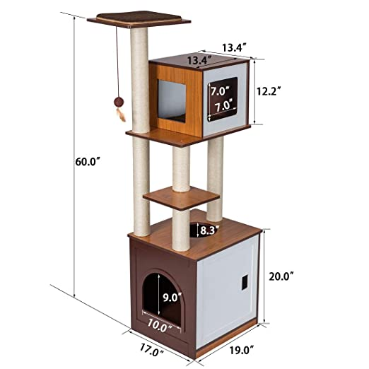 Amazon.com: Good Life PET594 - Mueble de madera para árbol ...