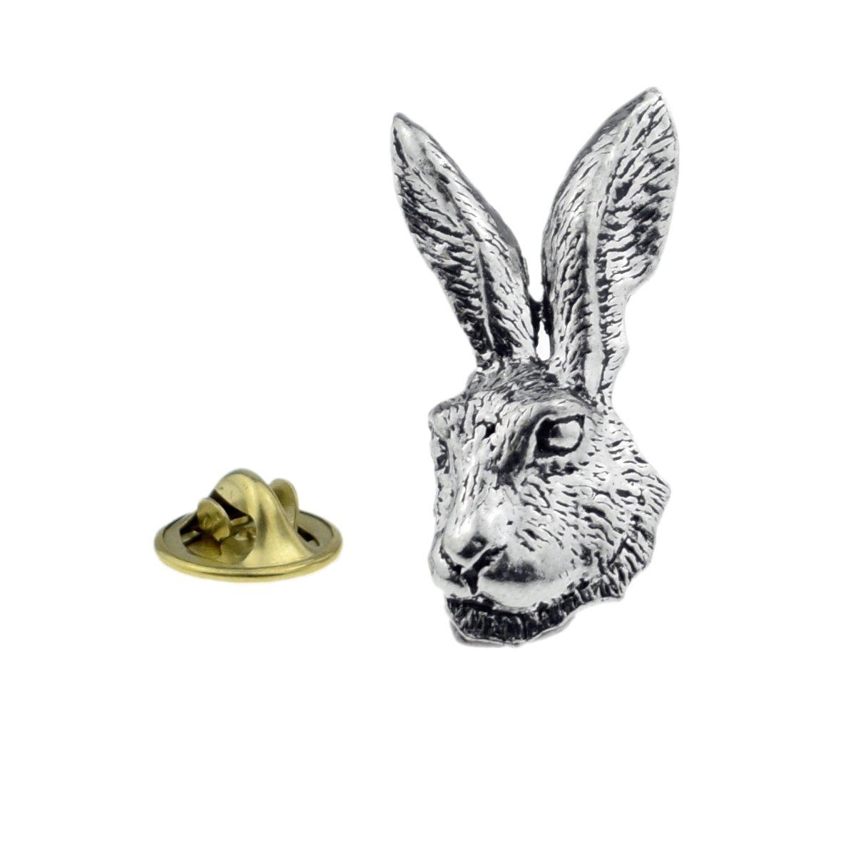 Rabbit Pewter Lapel Pin Badge