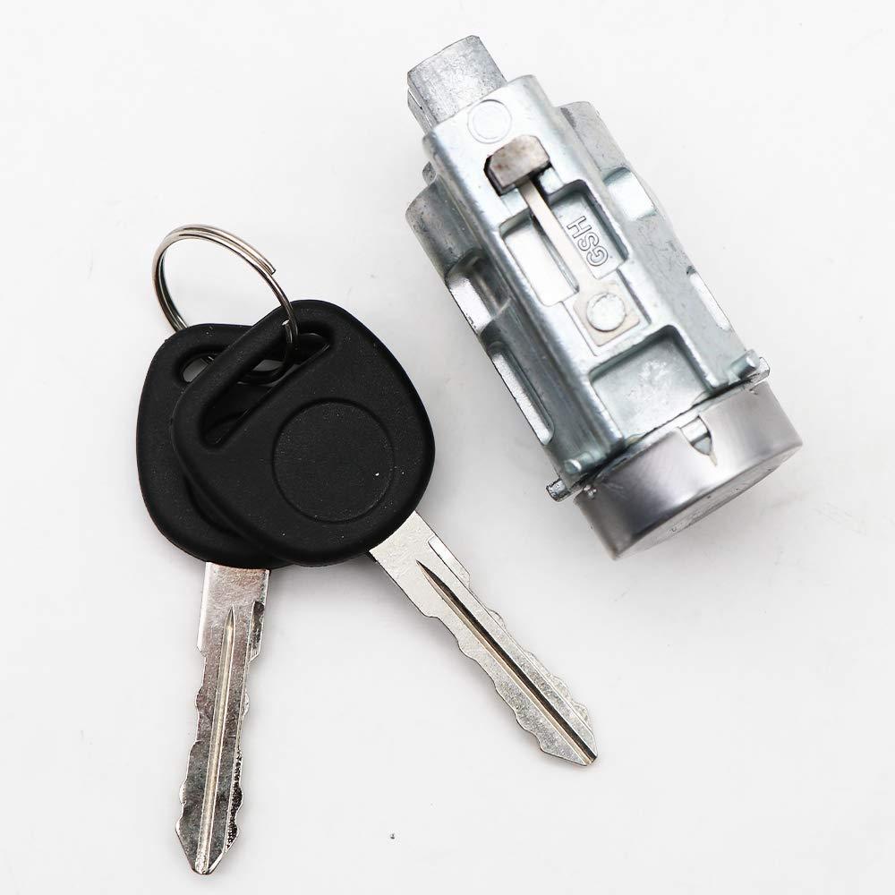 Ignition Lock Cylinder w//2 Keys Fits for Chevy Malibu Impala Olds Alero Pontiac Grand Am Repalces OEM 12458191 12533953 15822350 19168637 25832354 10008