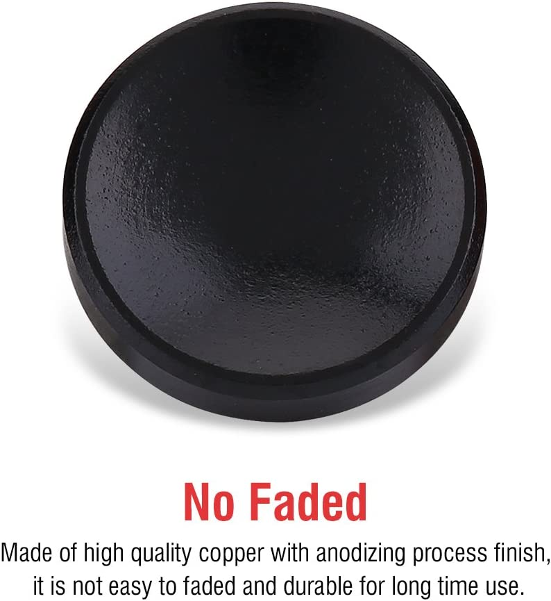 Boquite Quick Release Button 3pcs Universal Aluminium Alloy Camera Shutter with Concave Surface