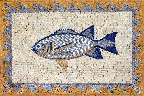 Hand Made Fish Marble Mosaic Decorative Wall Floor Bath Pool
