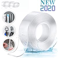 3 pieces of magic modified double-sided tape, multi-functional double-sided mounting tape, strong adhesive silicone transparent tape (large 3 cm, middle 2 cm, small 1 cm)