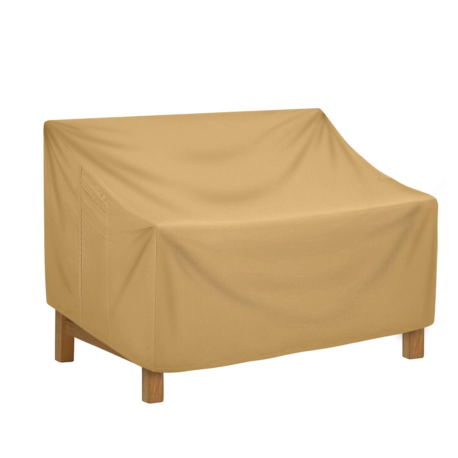 Sunkorto Patio Sofa Loveseat Cover, Waterproof Deep Seat Furniture Cover for Outdoor Balcony, 88x40x31 Inch by Sunkorto