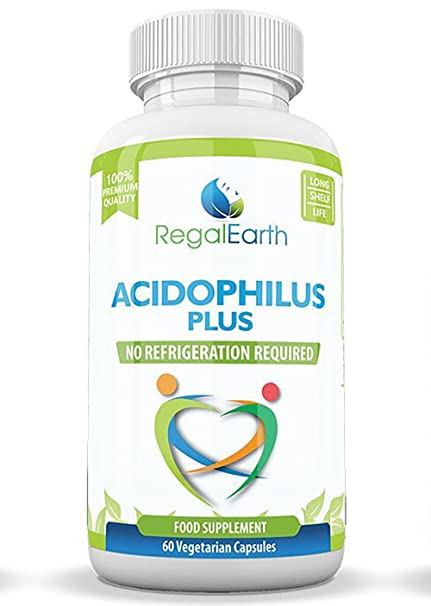 Los probióticos enzimas digestivas de alta resistencia Cápsulas Acidophilus Polvo - mejores suplementos para el SII para hombres y mujeres - ...