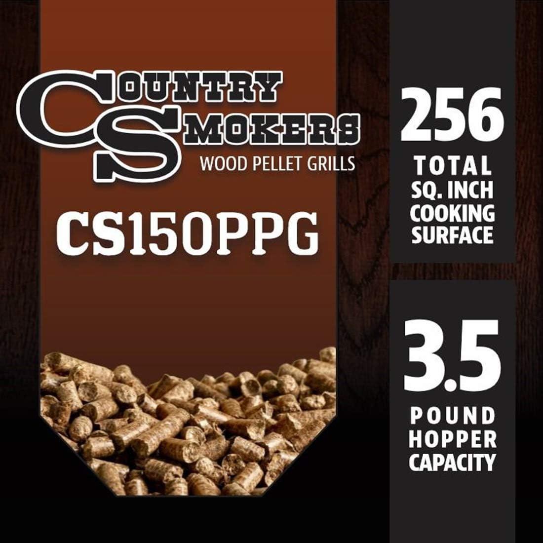 Schwarz Country Smokers CSPEL015010497 Holzpelletgrill und Smoker