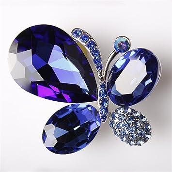 76dc8a9a4bce usix Pack de 3 mariposa con alas cristal Rhinestone broche Pin para vestidos