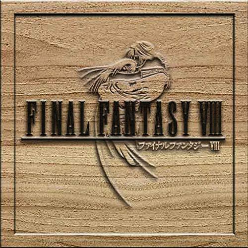Final Fantasy VIII 8 3D Solid Wood Craving Wall Decoration Medium Square