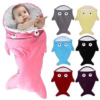 mougu8003 Saco de Dormir para bebé con diseño de tiburón (115 x 60 cm): Amazon.es: Hogar