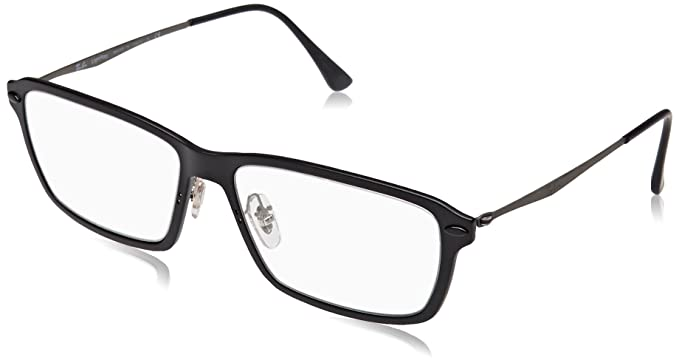 23939dd7fe Amazon.com  Ray-Ban Unisex RX7117 Eyeglasses Matte Black 50mm  Clothing