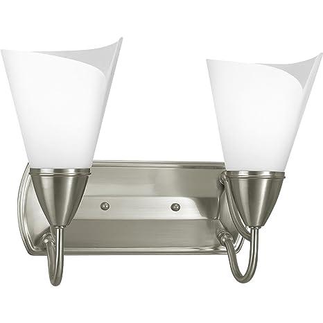 Amazon.com: Progress iluminación p3085 – 09 – 2-Light baño ...