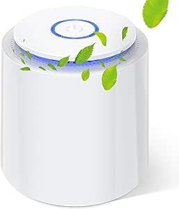 Mini Purificador de Aire con Filtro HEPA Verdadero Purificadores de Escritorio Portátiles con Función de Aromaterapia, Luz Nocturna, Cable USB para Polvo, Alergias, Caspa de Mascotas, Polen, Olores: Amazon.es: Hogar