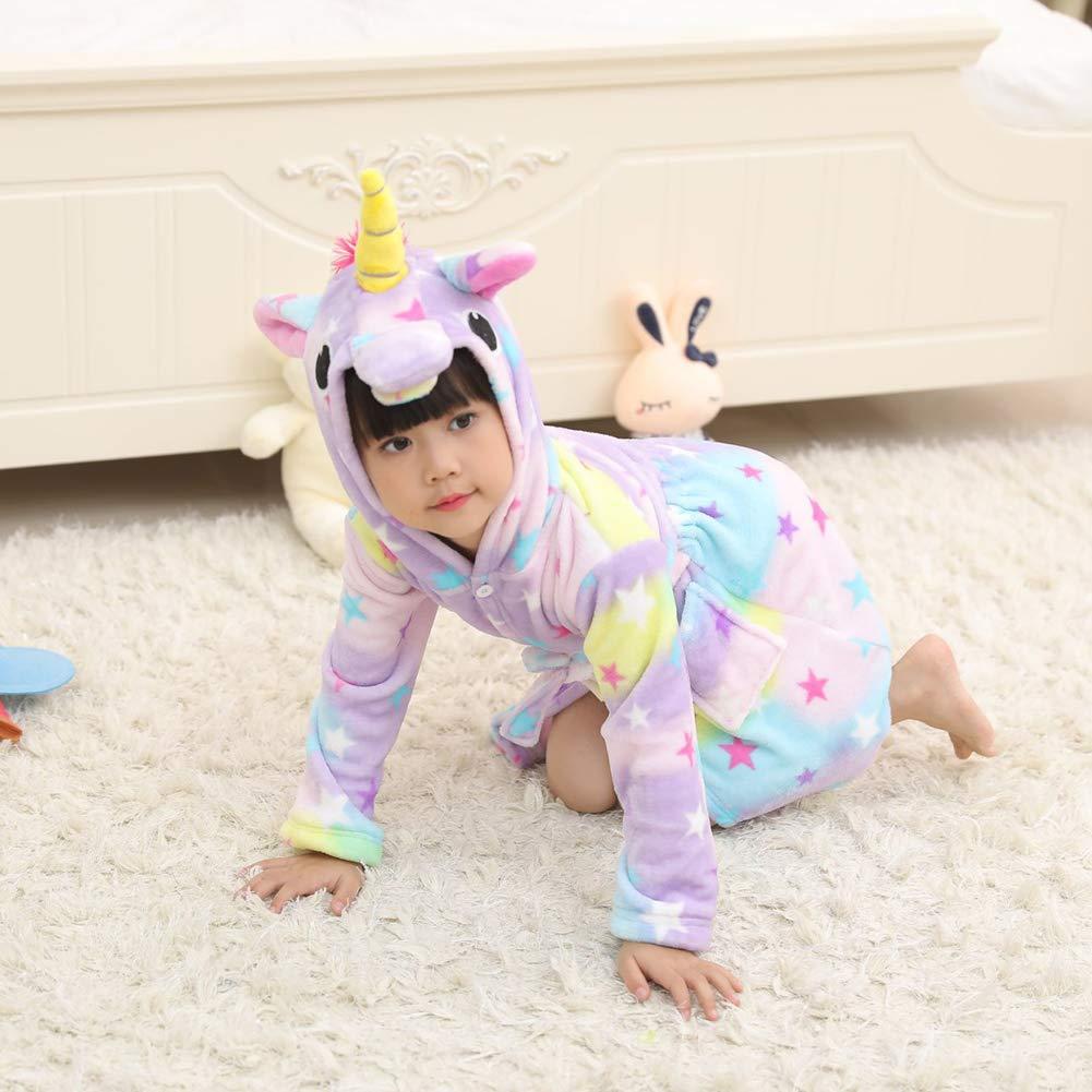 Bonito Estrella 100 Arco Iris Foca Star Yissma Albornoz Infantil de Manga Larga Unicornio con Capucha