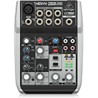 Behringer Q502USB 5-In 2-Bus Mixer with XENYX Mic Preamp & Compressor, British EQ and USB/Audio Interface