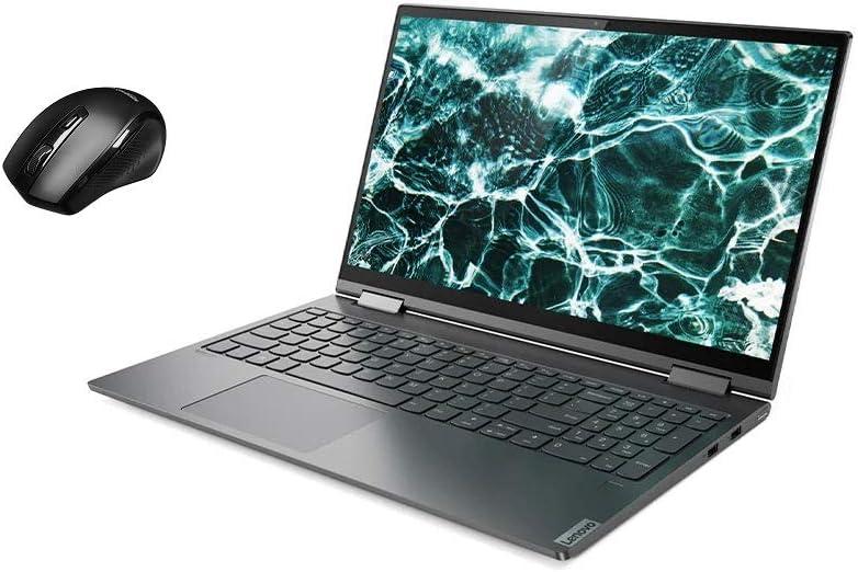 "Lenovo Yoga C740 2-in-1 15.6"" FHD Widescreen LED Multi-Touch Premium Laptop Bundle Woov Mouse   10th Gen Intel Quad Core i5-10210U   12GB RAM   256GB SSD   Backlit Keyboard   Fingerprint   Windows 10"