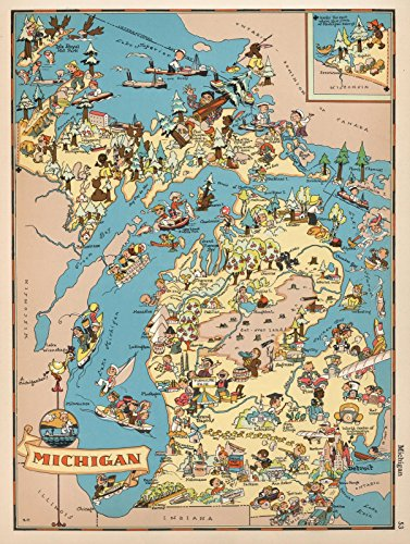Michigan Antique Map - 2