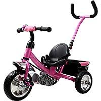 Tricycle pour enfant - Avec barre à pousser Vélo 3 roues Tricycle Cyclisme