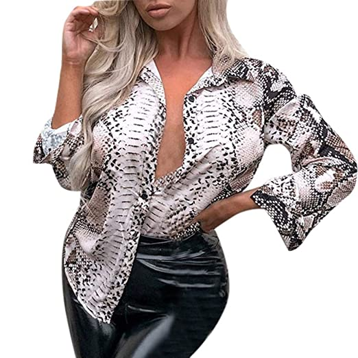 cfdf2c41d84 Alixyz Women Sexy Snake Print Tops Fashion Camisole Blouse T-Shirt ...