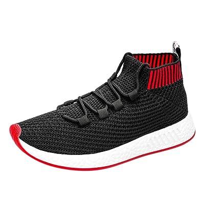 b75f617cd939 Sneaker Herren,ABSOAR Männer Hohe Hilfe Socken Schuhe Kreuzgurte Sportschuhe  Weich Sohle Laufschuhe Atmungsaktiv Turnschuhe