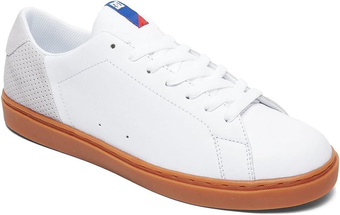 DC Men's Reprieve Skate Shoe White/Blue/Red
