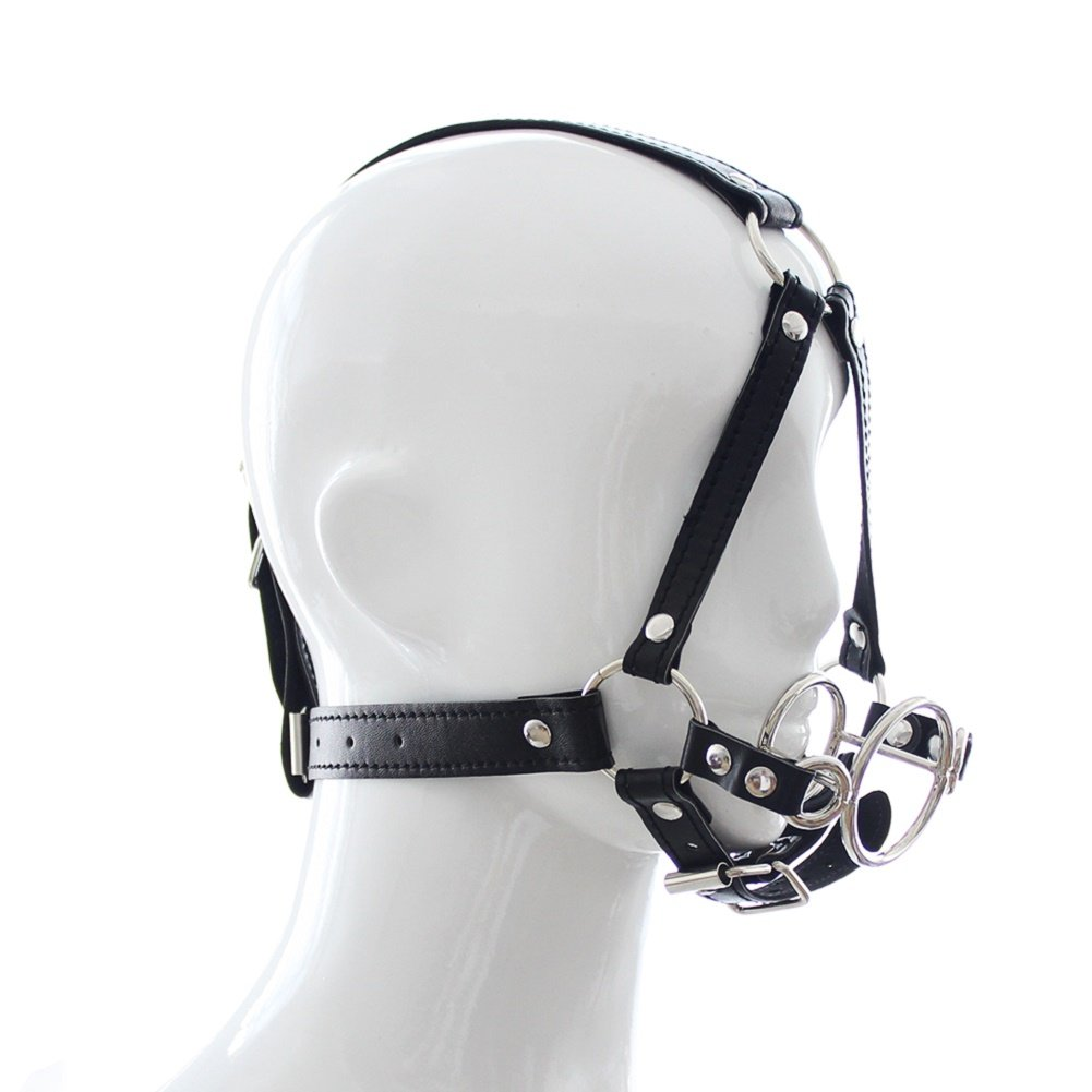 Raycity Open Mouth Gag Head Harness Bondage Fetish Restraint Adults Sex Toys