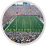 Pixels Round Beach Towel With Tassels featuring ''University Of Michigan Football Game'' by Pixels