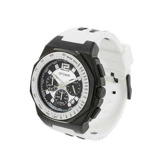 OTUMM Reloj cronógrafo para Hombre de Cuarzo con Correa en Caucho 02187: Amazon.es: Relojes