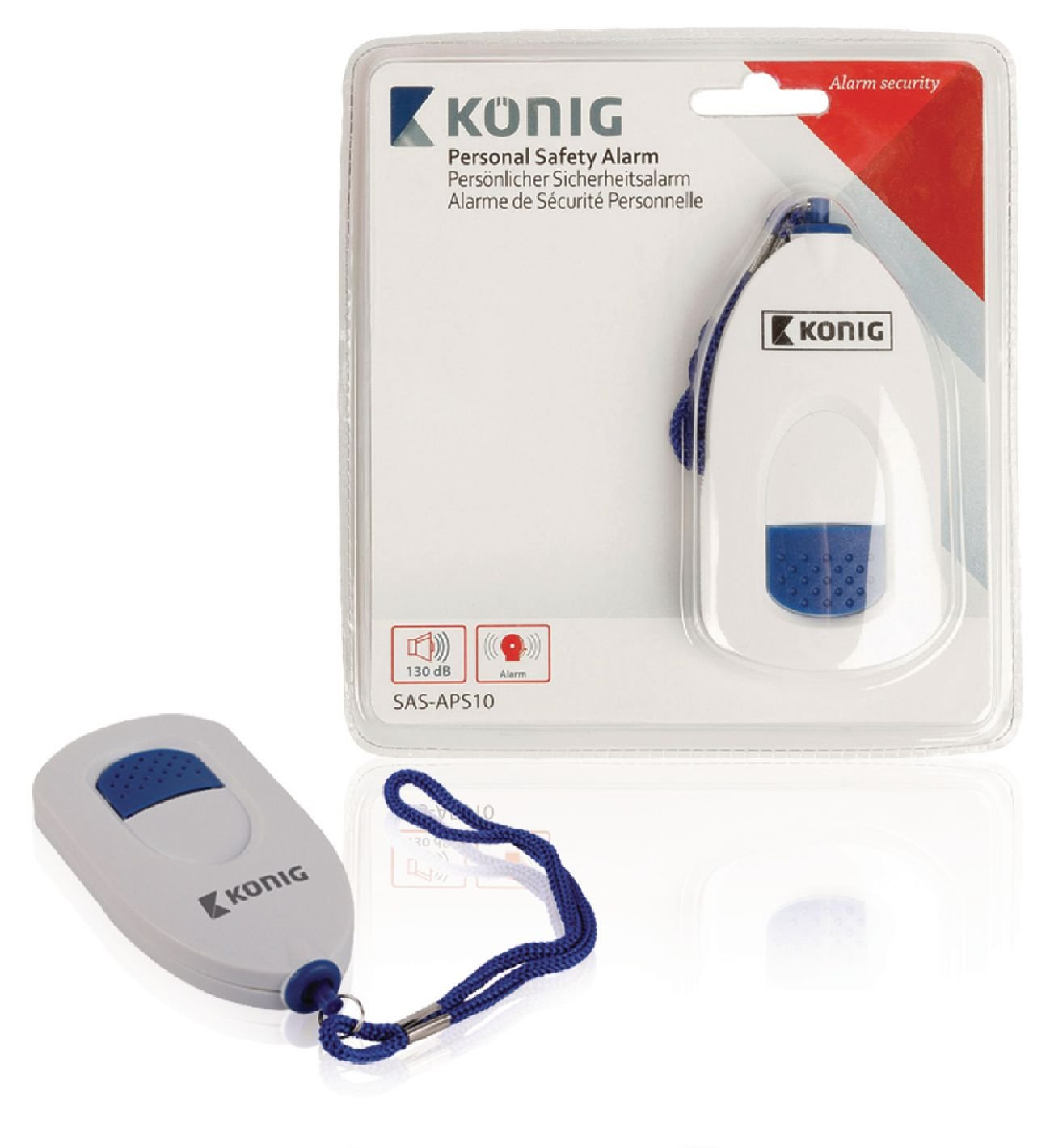 Eurosell 2 St/ück Handalarmger/ät Handtaschen Sirene Panik Alarm Sicherheit Safety Button