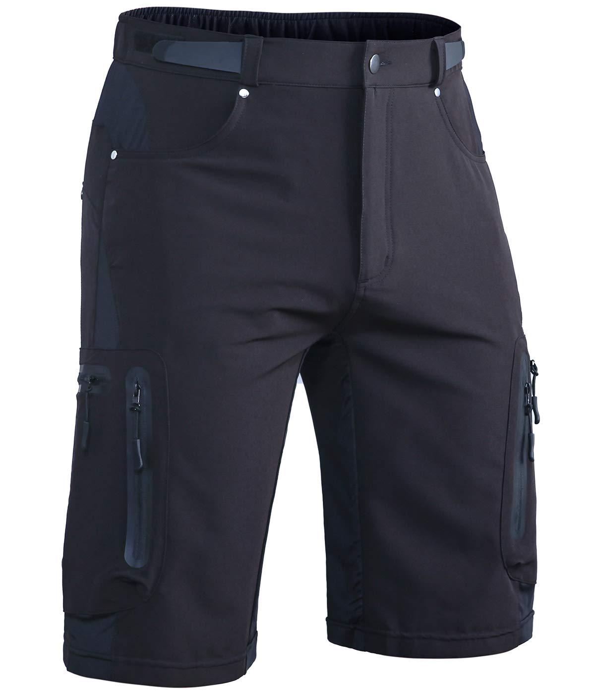 Mountain Bike Shorts Pants Cycorld MTB Mens Cycling shorts Water Repellent Baggy Loose Fit Cycle Shorts with Zip Pockets