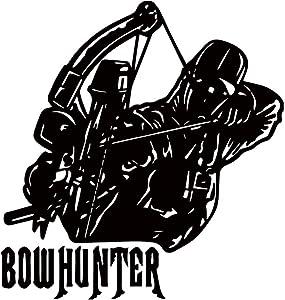 USC DECALS Bowhunter in Silhouette (Black) (Set of 2) Premium Waterproof Vinyl Decal Stickers for Laptop Phone Accessory Helmet Car Window Bumper Mug Tuber Cup Door Wall Decoration