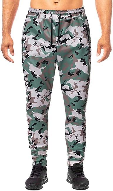 Pantalones Hombre Moda Chándal de Hombres Camuflaje Impresión ...