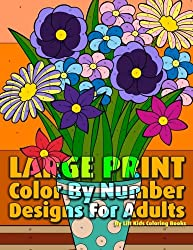 Large Print Color By Number Designs For Adults (Premium Adult Coloring Books) (Volume 13)