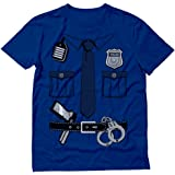 Police Cop Uniform Shirt Halloween Costume Policeman Outfit Suit T-Shirt