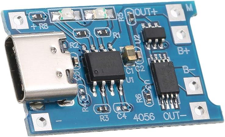 Ktoyols MicroType CMini USB 5V 1A TP4056 Carte de charge du module de chargeur de batterie au lithium 18650 avec protection à double fonction Li ion