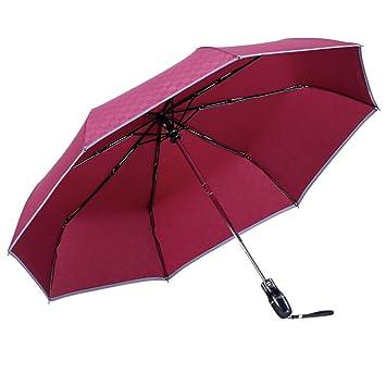 Paraguas Aigumi innovador y resistente al viento, reversible y plegable con doble capa para bloquear