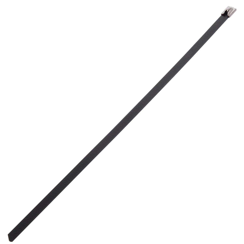 パンドウイット MLTタイプ フルコーティングステンレススチールバンド SUS316 コーティング部分:ポリエステル 黒 幅16.1mm 長さ434mm 50本入り MLTFC4SH-LP316   B002P8UDW0